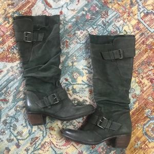 MJUS   Italian Leather Green Boots Size 37